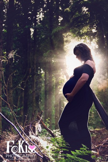 FoKiss Photography, Maternity, Pregnancy shoot, Sunrise, silhouette, Beach, Woods, Baby bump Galway, Mayo
