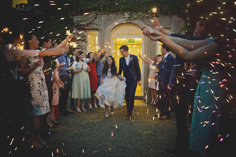 FoKiss Photography, Wedding Photography, Castle Dargan Irish wedding photographer, Galway wedding photographer, golden hour, sunset, sparklers