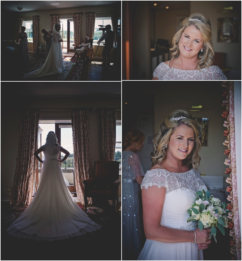 Bride getting ready at The Lodge at Ashford Castle