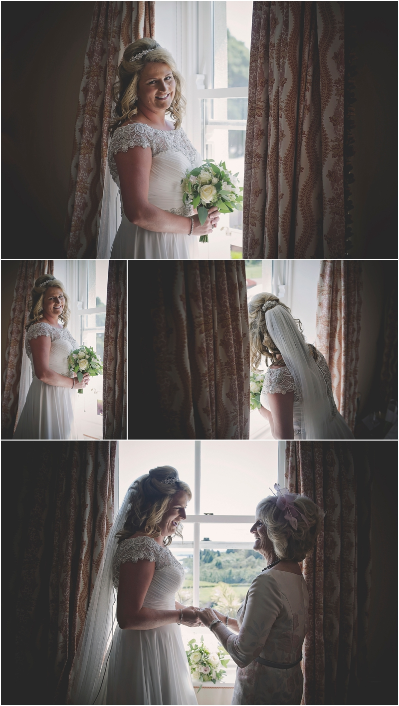 The bride and her mum at The Lodge at Ashford Castle