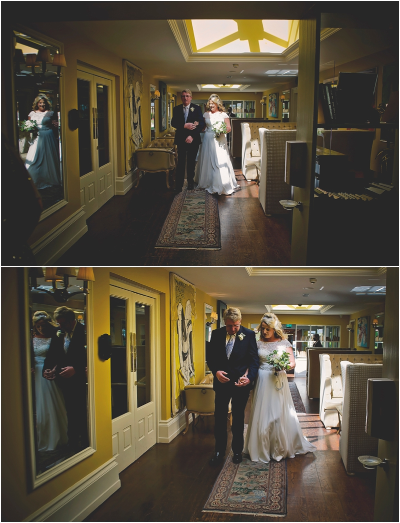 Father and the Bride head to the ceremony at The Lodge at Ashford Castle