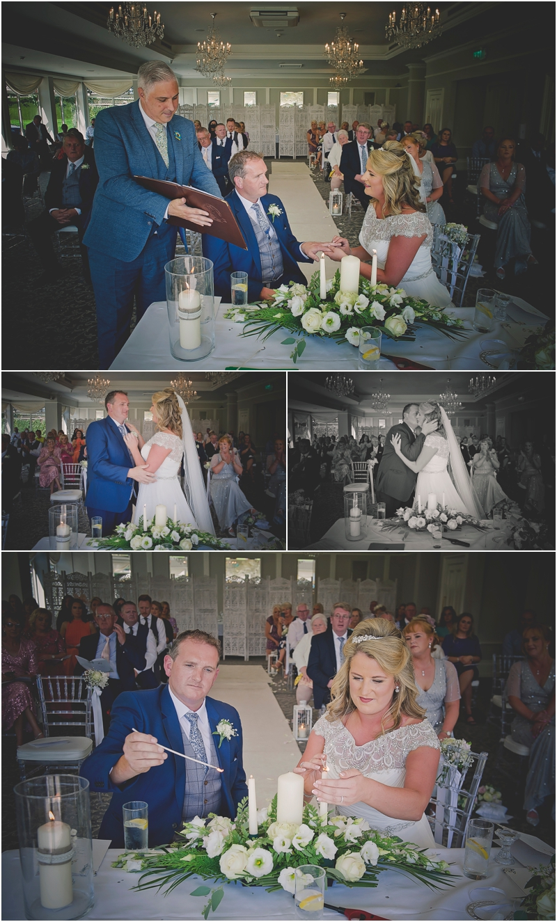 Bride and Groom say I Do at t The Lodge at Ashford Castle