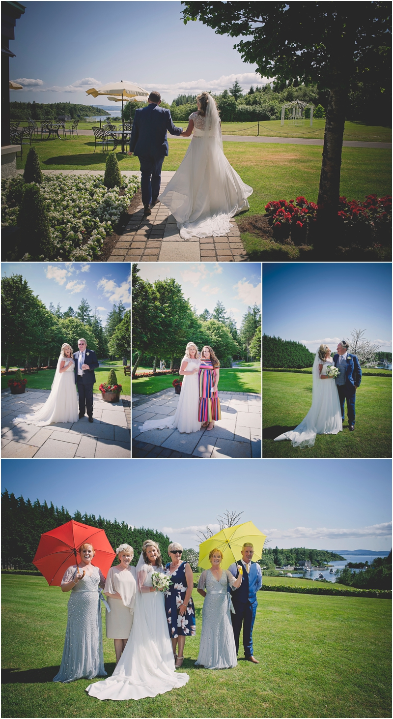 Wedding guest have their photo taken at at The Lodge at Ashford Castle
