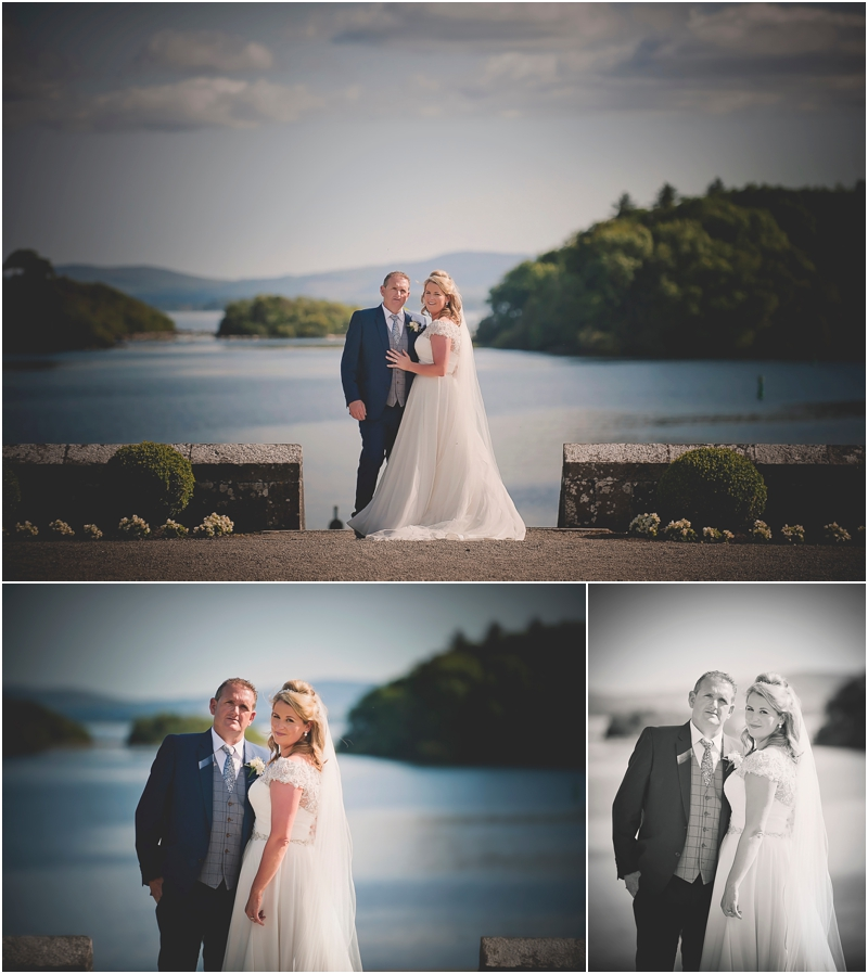 Bride and groom take a walk in the Gardens at The Lodge in Ashford Castle